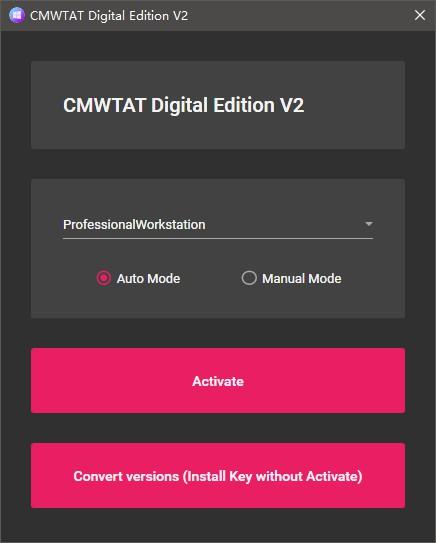 CloudMoe 最棒的开源 Win10 数字权利(数字许可证)激活工具!-OIMI