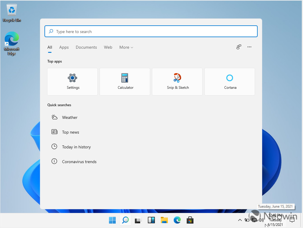 最新泄露的Windows 11 Build 21996.1 Dev版截图-OIMI